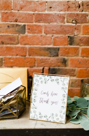 Brass frame wedding signs cards and gifts The Wedding of my Dreams