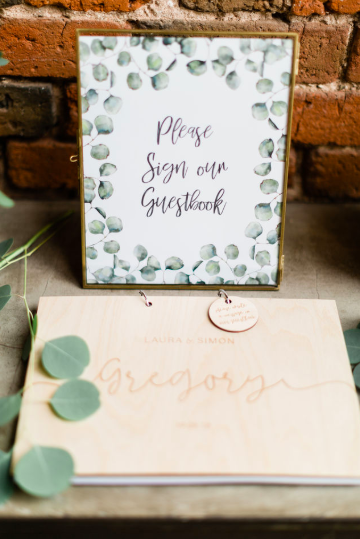 Brass frame wedding signs please sign our guest book The Wedding of my Dreams