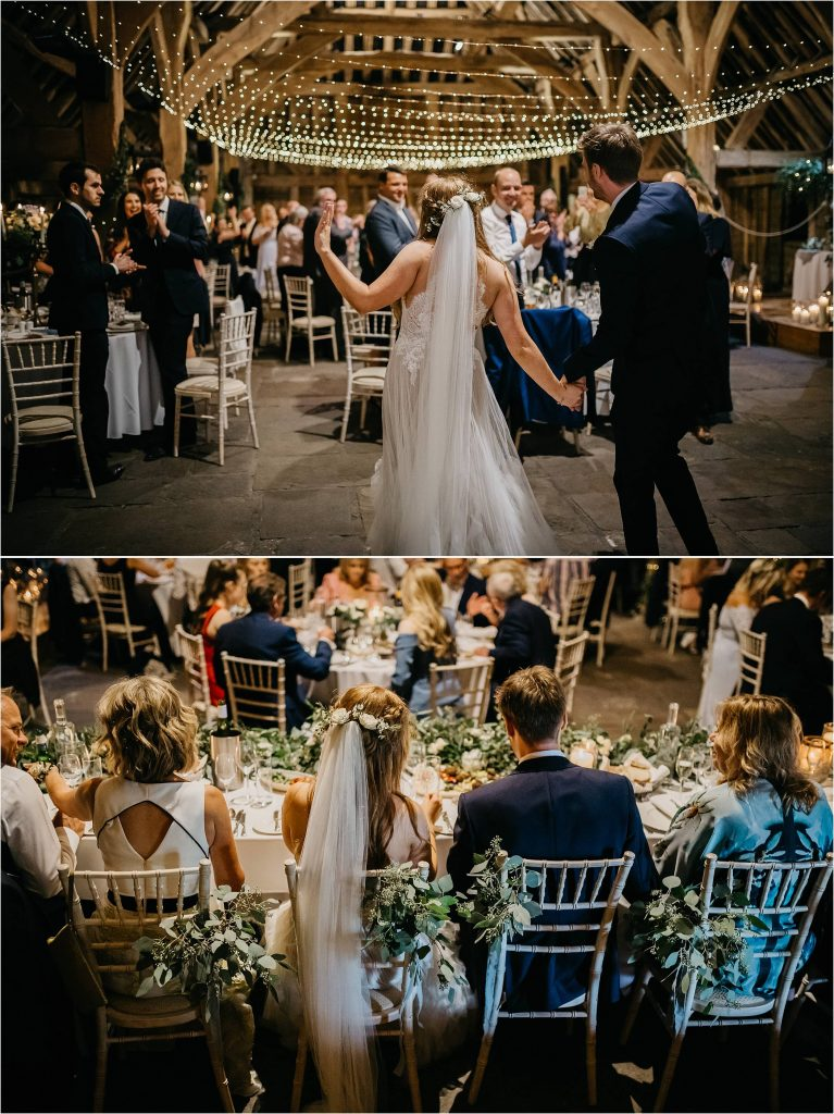Foliage filled wedding - foliage covered chairs hair flowers top table - flower overload Passion for Flowers