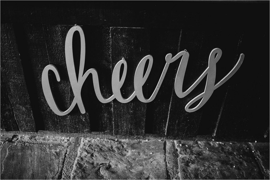 Cheer sign barn wedding ideas