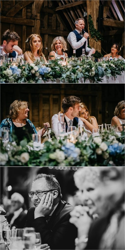Full flowers top table wedding flowes barn wedding Passion for Flowers warwickshire wedding florist