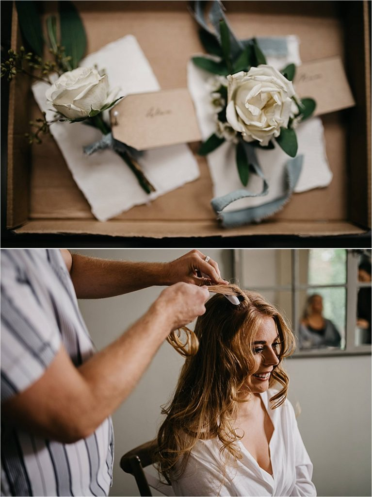 Passion for Flowers button holes hair flowers bride getting read