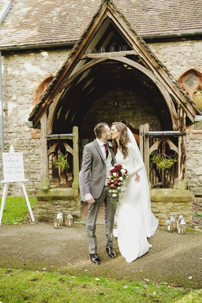 Birtsmorton Court winter wedding