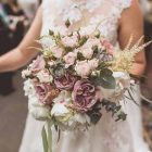 Bridal bouquets dusky pink roses texture astilbe eucalyptus hand tied Passion for Flowers