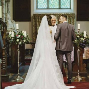 Church ceremony Birtsmorton Court wedding florist Passion for Flowers