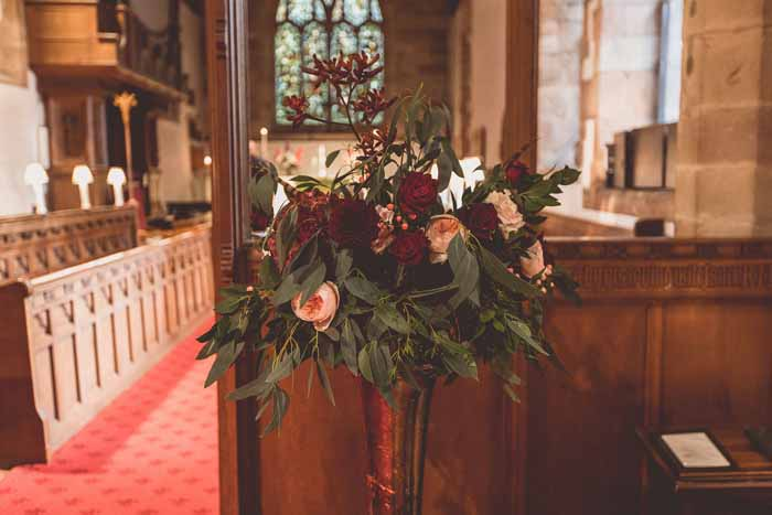 Hampton In Arden Church wedding Passion for Flowers