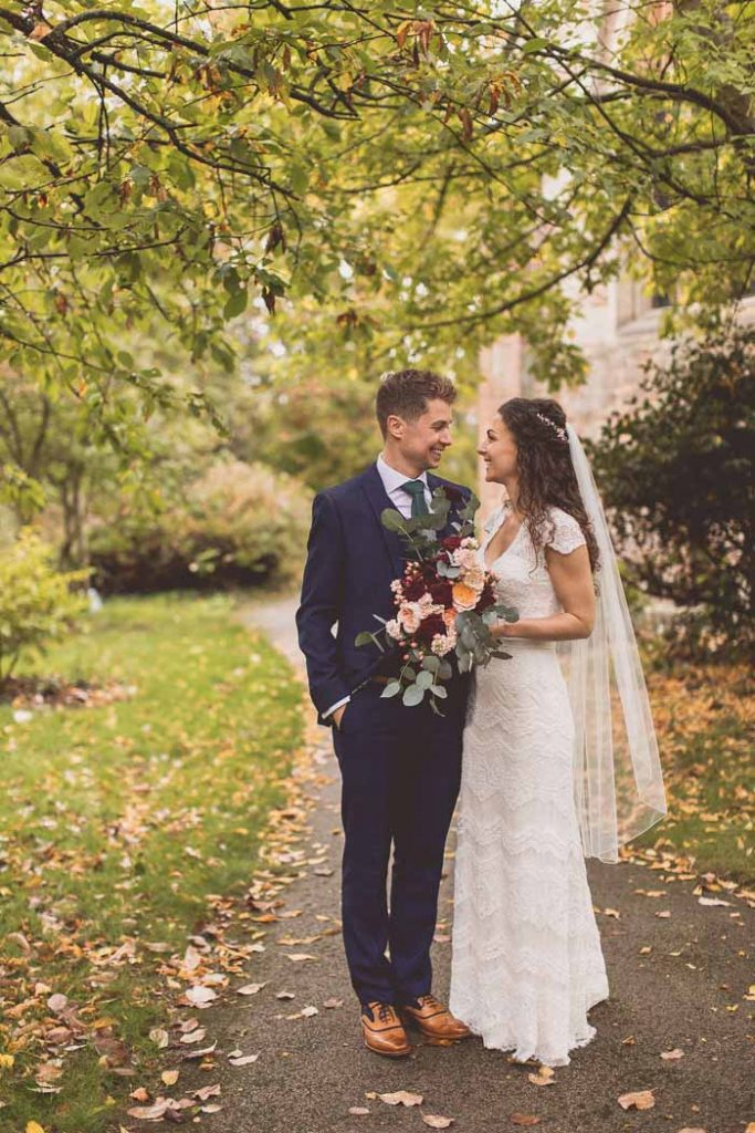 Hampton Manor wedding autumn colours
