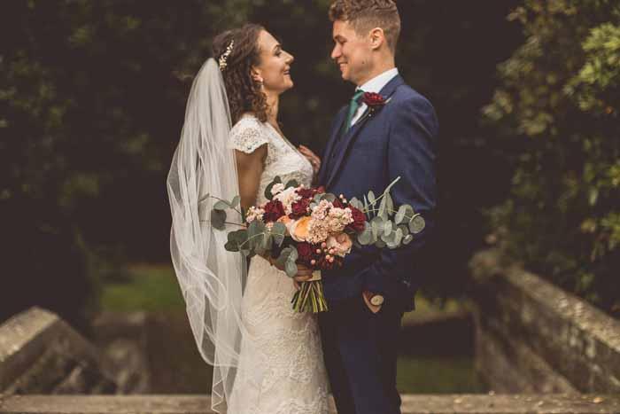 Hampton Manor wedding flowers autumn colours