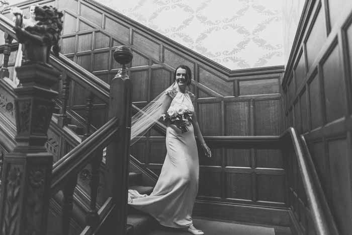 Hampton Manor wedding staircase
