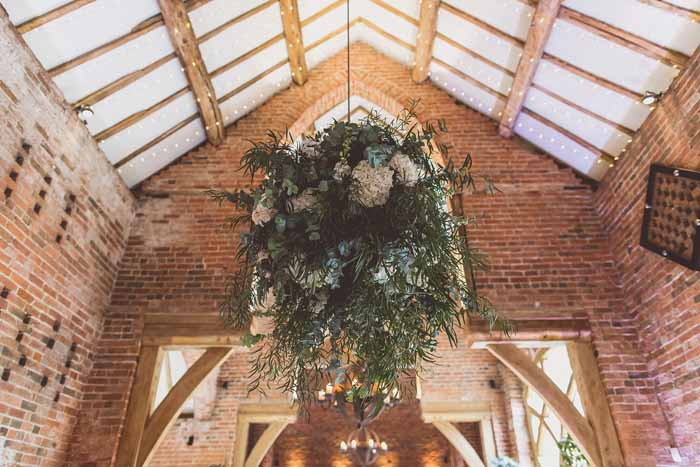 Hanging globe flower balls Shustoke Farm Barns Passion for Flowers florist