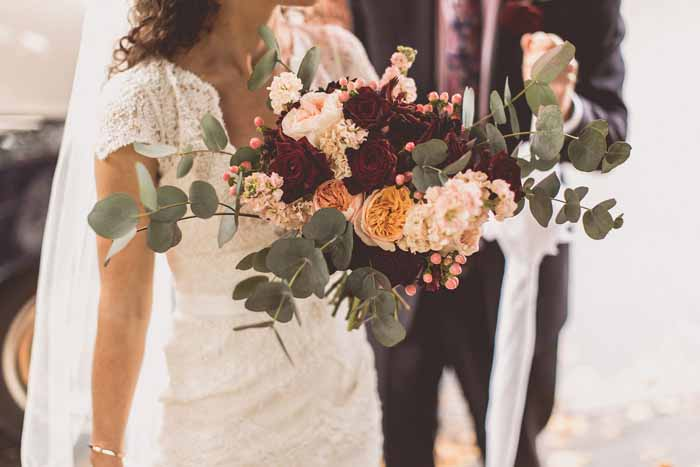 Organic free form autumnal bouquet wedding flowers Passion for Flowers