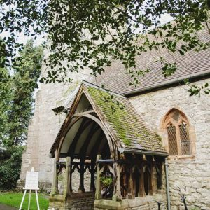 Wedding church entrance ceremony Birtsmorton Court Passion for Flowers