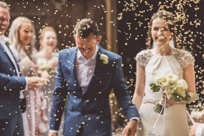 Wedding confetti Hampton Manor