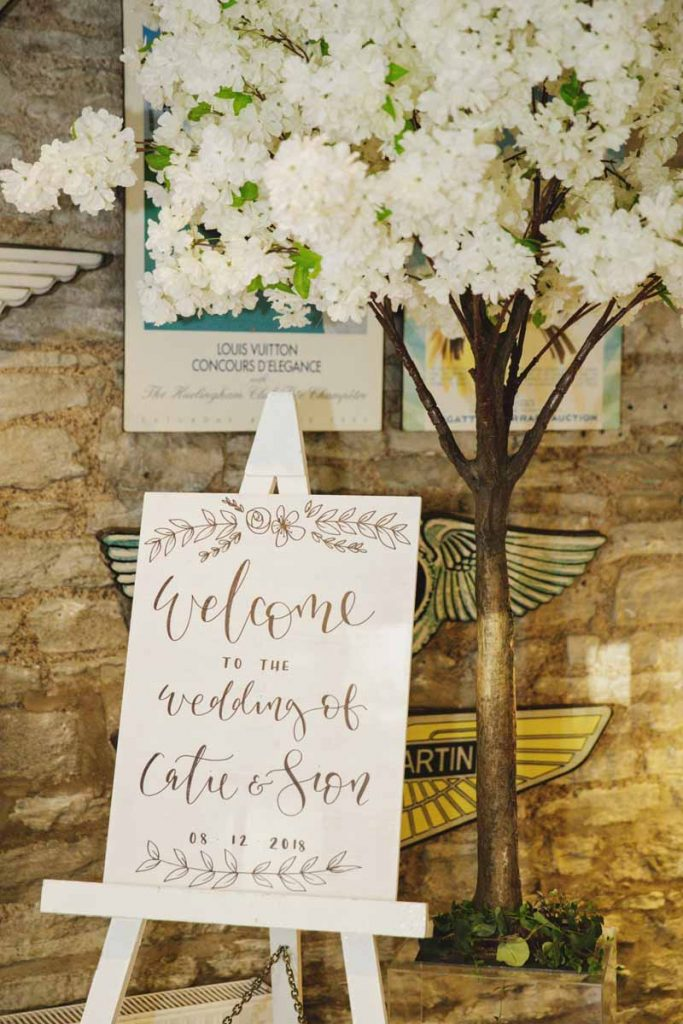 Wooden white welcome sign hand painted The Wedding of my Dreams
