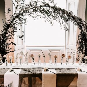Top table ideas moongate wedding backdrop Passion for Flowers