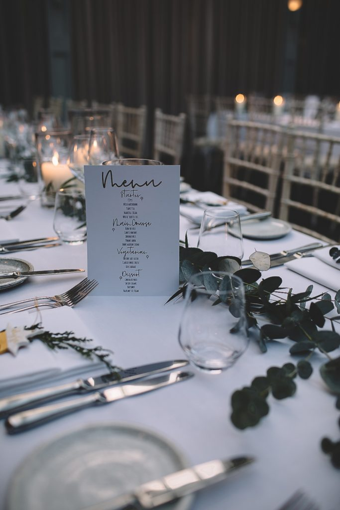 Foliage garlands long wedding tables Hampton Manor by Passion for Flowers