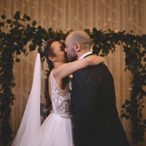 Hampton Manor wedding ceremony birch backdrops Passion for Flowers
