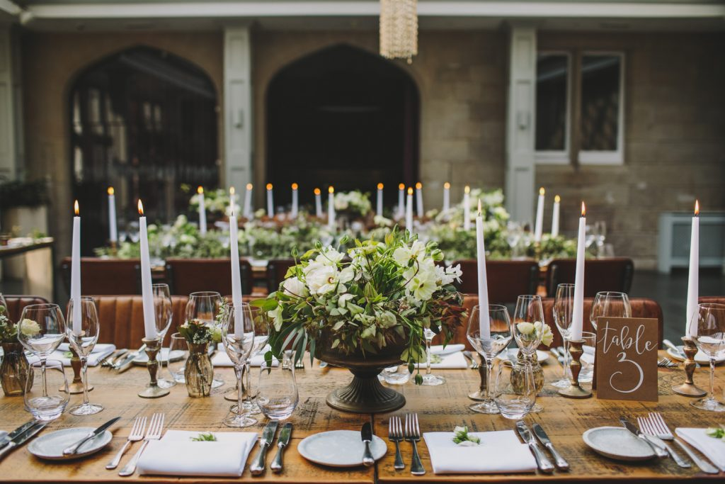 Low wedding centrepieces rustic barn weddings