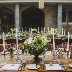 Low wedding centrepieces rustic barn weddings