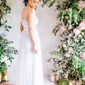 Stunning asymmetric arch wedding ceremony backdrops Passion for Flowers