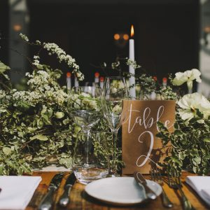 Table number cards for barns from The Wedding of my Dreams