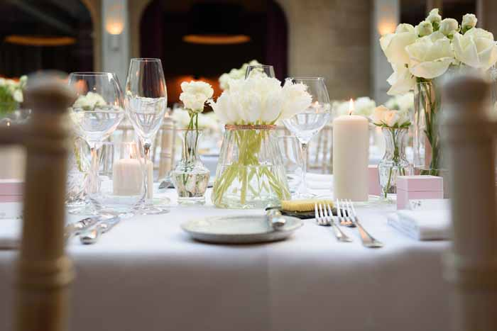 White and copper wedding Hampton Manor wedding florist Passion for Flowers