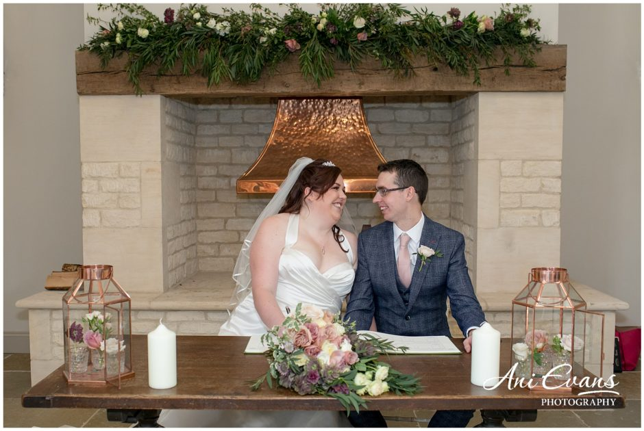 Blackwell Grange wedding florist fireplace garlands 3
