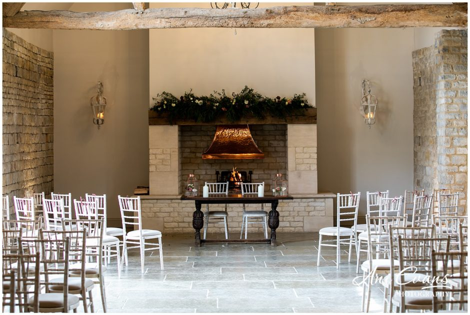 Blackwell Grange wedding florist fireplace garlands