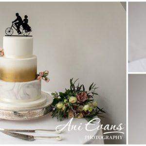 Blackwell Grange wedding florist wedding cake table