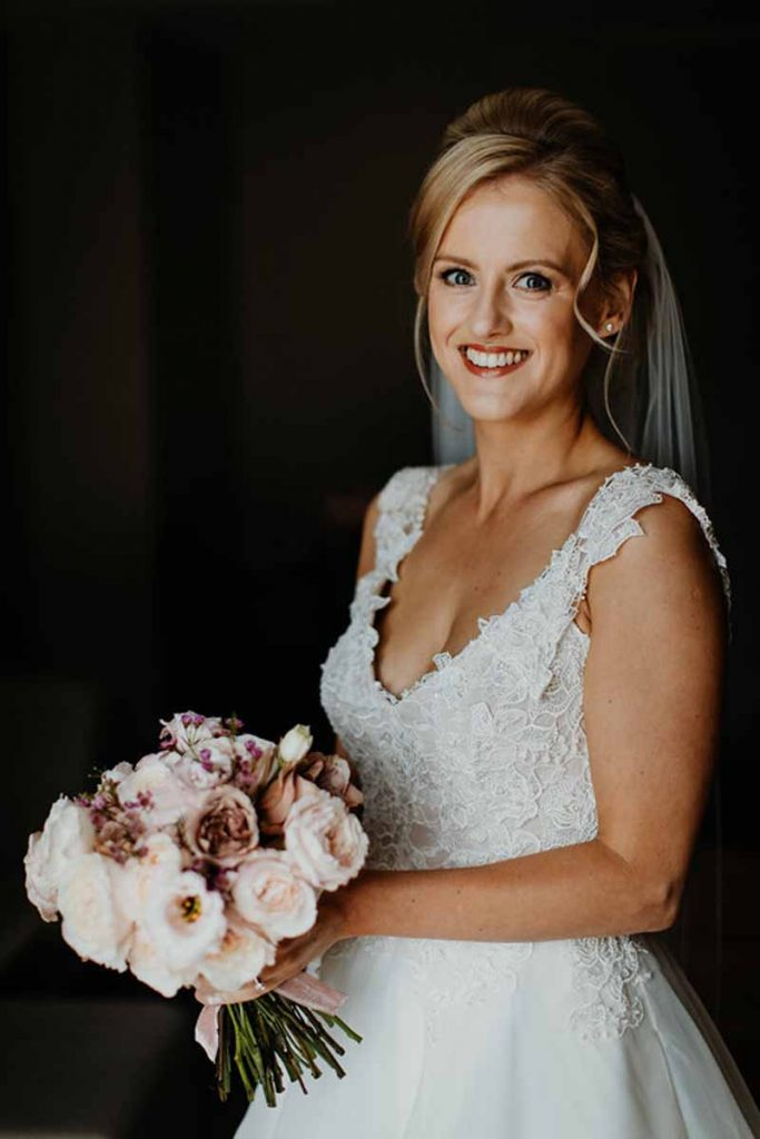 Blush pink deep pink bridal bouquet Passion for Flowers