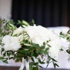 Elegant white green wedding bouquets