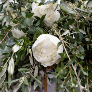 Garden roses white wedding flowers