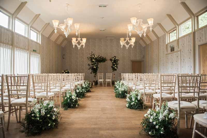 Meadow Wedding Flowers Aisle Decor Hampton Manor