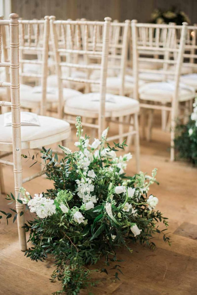 Natural meadow style wedding flowers wedding ceremony