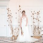Neutral wedding backdrops natural wedding flower styling Passion for Flowers Compton Verney Shoot