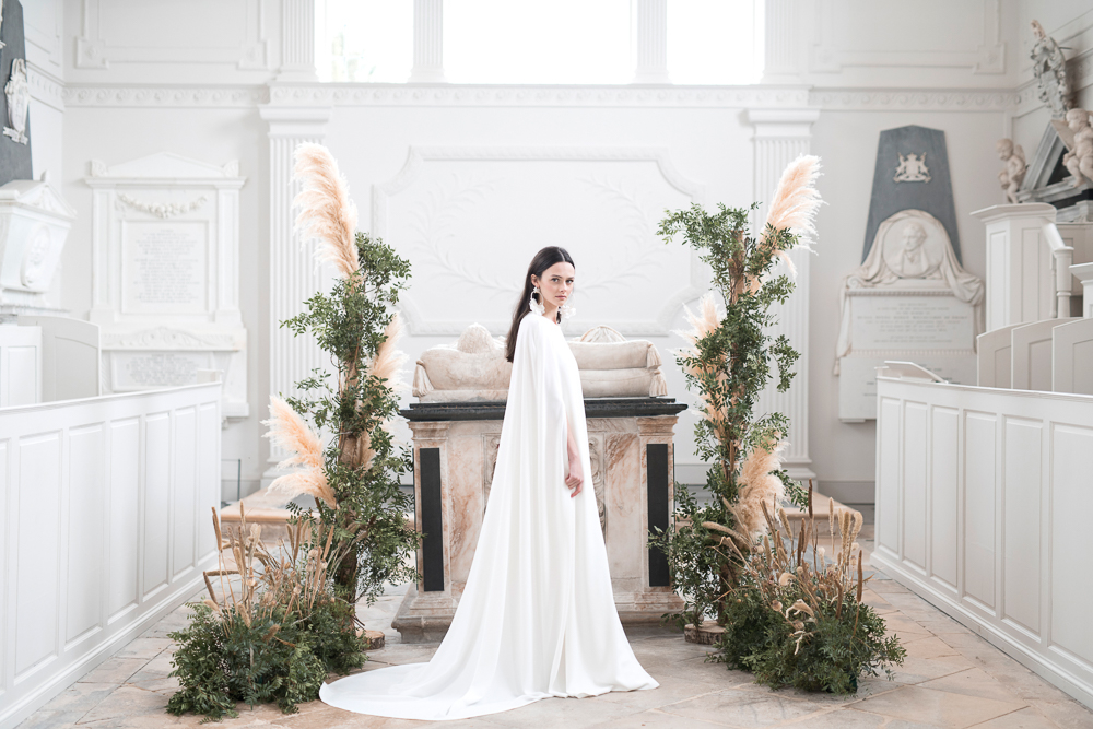 Pampas Grass wedding flowers ceremony backdrop Compton Verney Passion for Flowers 3