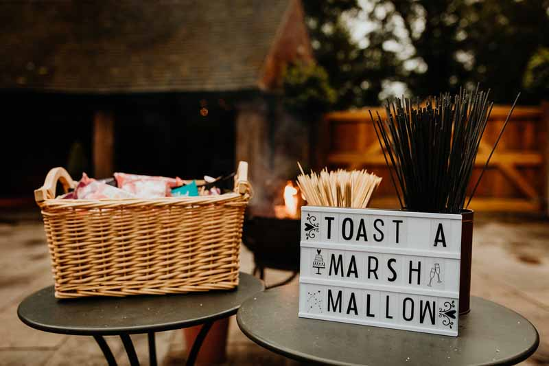 Toast a marshmallow wedding sign ideas