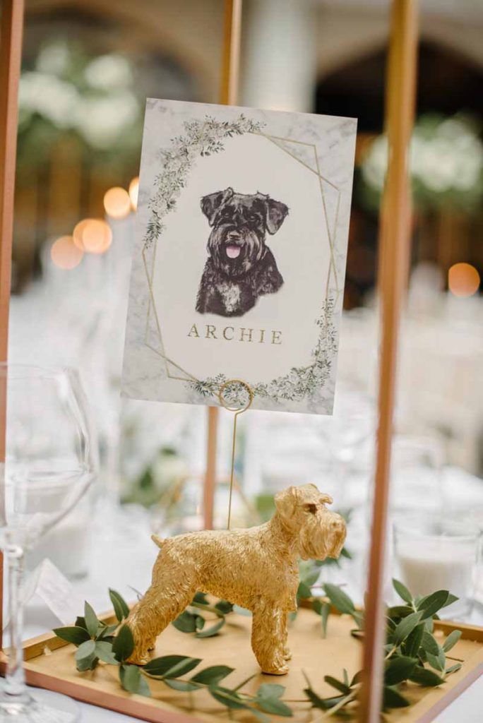 Wedding table name ideas family pets