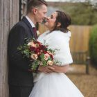 Winter wedding bouquets reds blush pink foliage Passion for Flowers