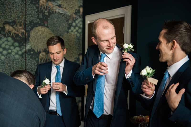 buttonholes white roses