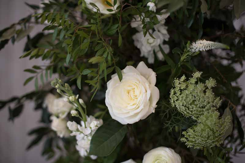 luxury white roses wedding flowers