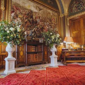 Eastnor Castle Wedding Florist Ceremony Urns