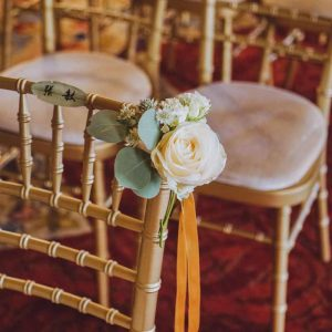 Eastnor Castle Wedding Florist Ceremony Chair Flowers