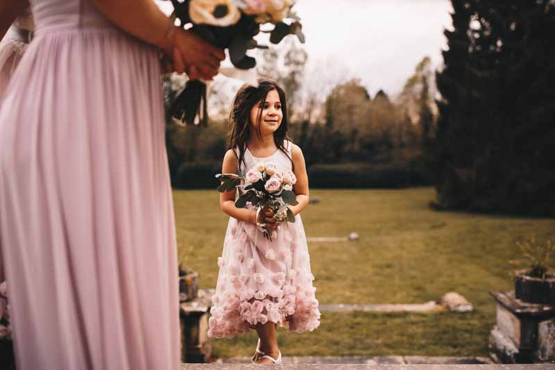 Blush pink flower girl ideas