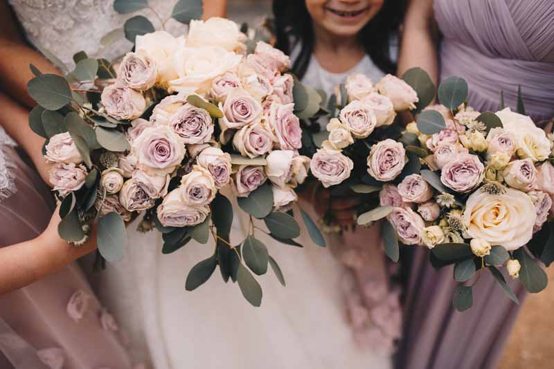 Blush pink rose dusky pink rose wedding bouquets