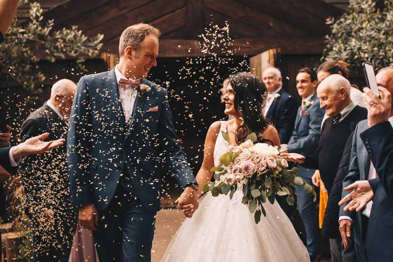 Hampton Manor wedding florist Passion for Flowers confetti