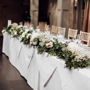 Floral Garlands Long Top Tables