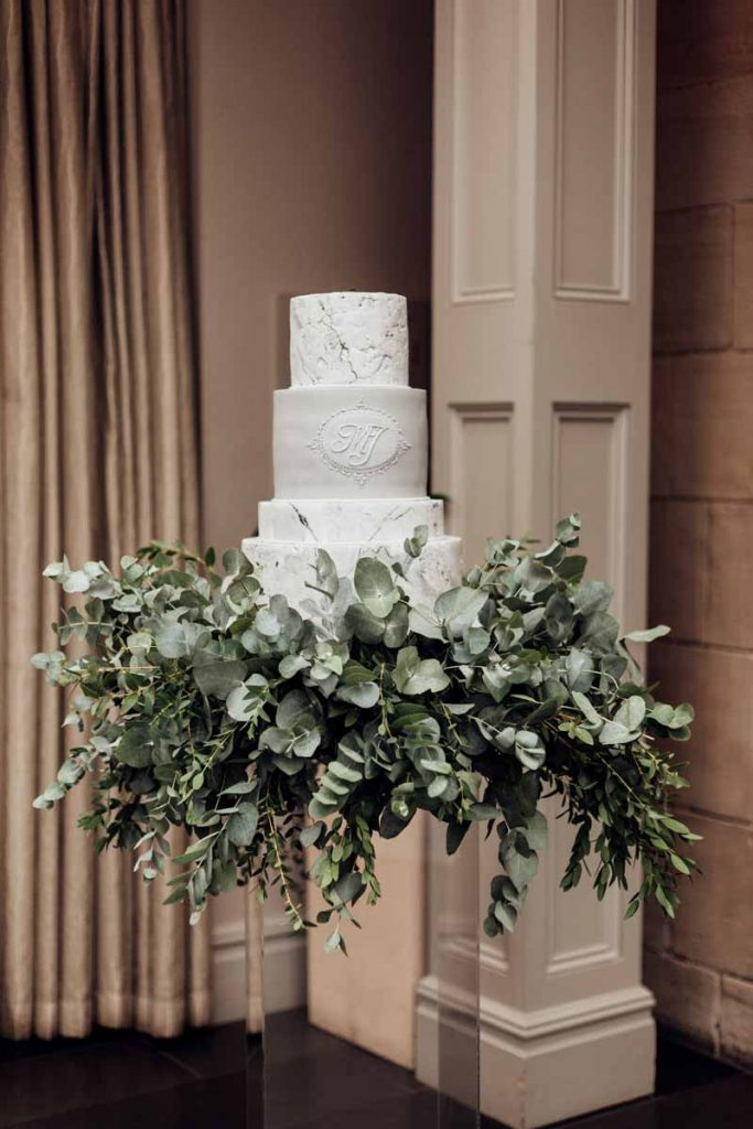 Foliage Skirt for Wedding Cake Base