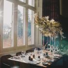 Floating centrepieces floral clouds Passion for Flowers Hampton Manor Wedding Florist