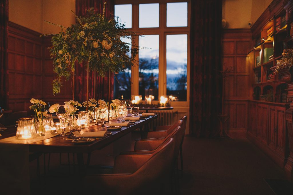 Floating tall centrepieces floral clouds Passion for Flowers Hampton Manor Wedding Florist